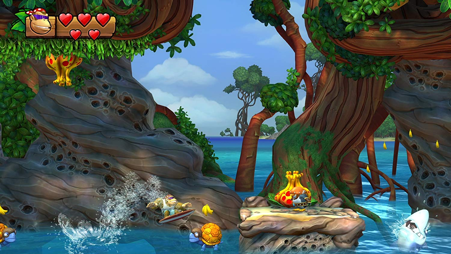 <em>Donkey Kong Country: Tropical Freeze</em>is gorgeous even with the Switch's technical limitations.