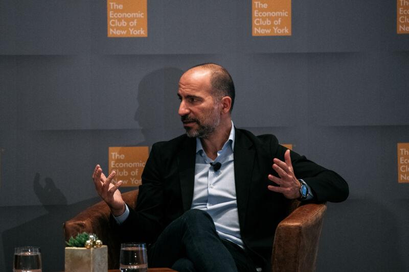 Uber CEO Dara Khosrowshahi in December 2019.