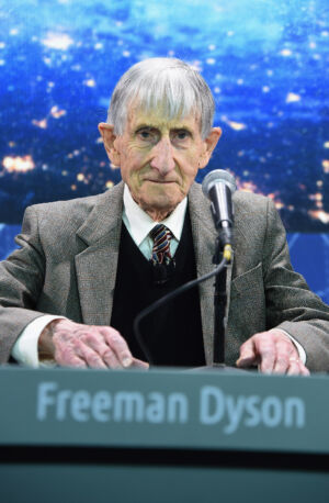 Freeman Dyson at the introduction of Breakthrough Starshot, an idea with a sci-fi aura that's based on well-understood physics.