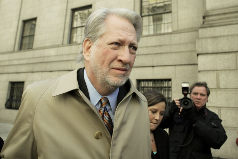 Bernard Ebbers after his conviction in 2005.