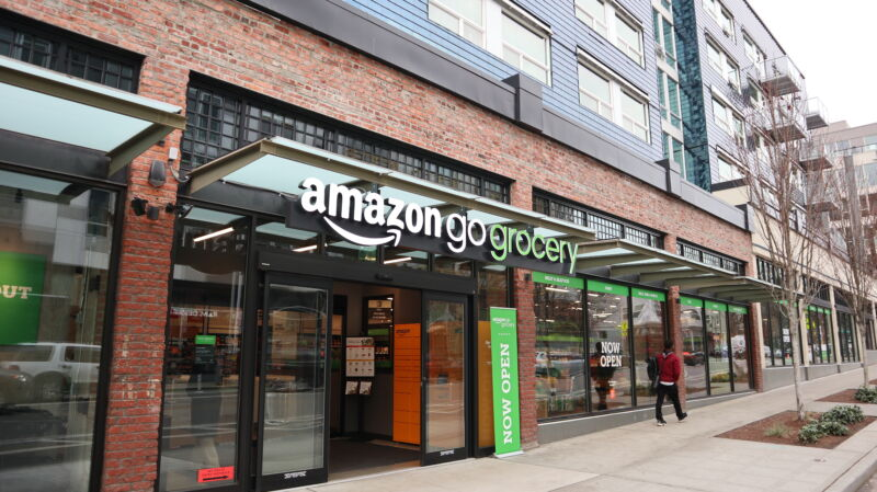 Amazon Go Grocery's first location in the Seattle neighborhood of Capitol Hill.
