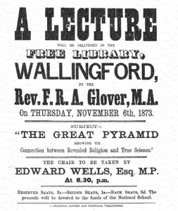 Placards like this one, advertising lectures drawn largely          from Smyth, could be seen hanging outside of churches all over          the Western world during the latter part of the nineteenth          century.<br />