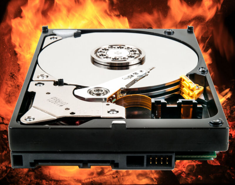 Ars Technica does not recommend removing the protective cover from your hard disk or setting it on fire in production settings.
