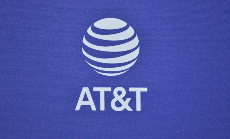 The AT&T logo.
