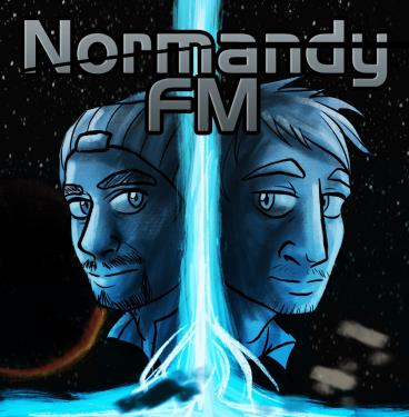 The logo the Normandy FM podcast used during its discussion of all four <em>Mass Effect</em> games.