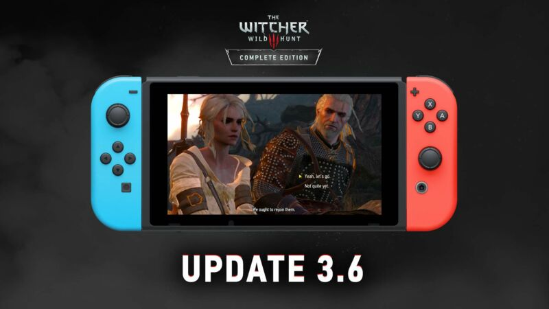 CD Projekt Red's official update image is a bad choice for showing off the huge updates. Why not a massive GOG logo instead?