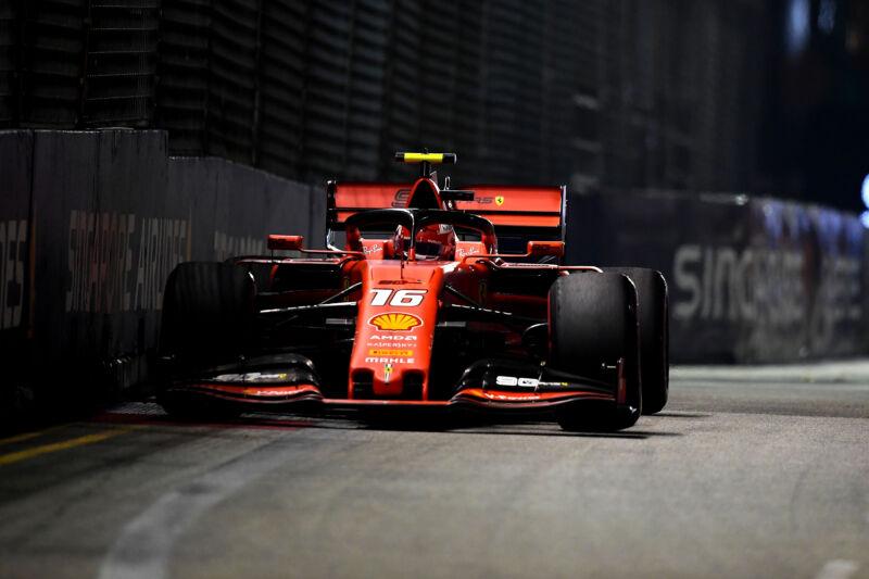 A Ferrari Formula 1 car