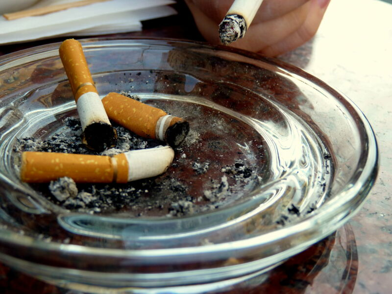 Harmful compounds linger on surfaces long after cigarettes have been stubbed out.