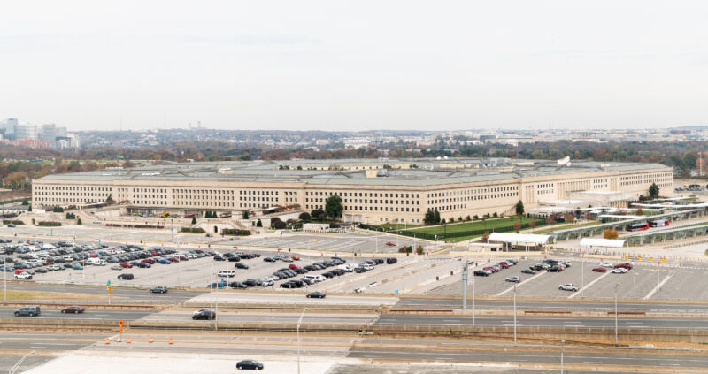 The Pentagon in its natural habitat—Arlington, Virginia—in 2018.