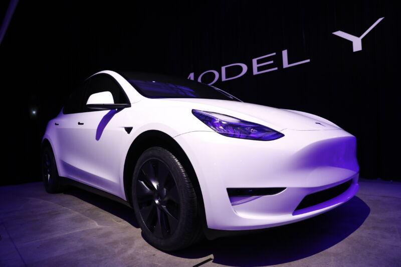 A Tesla Model Y.