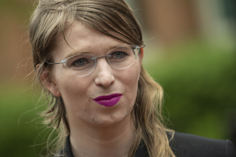 Manning in 2019, when she was briefly free between two grand jury terms.