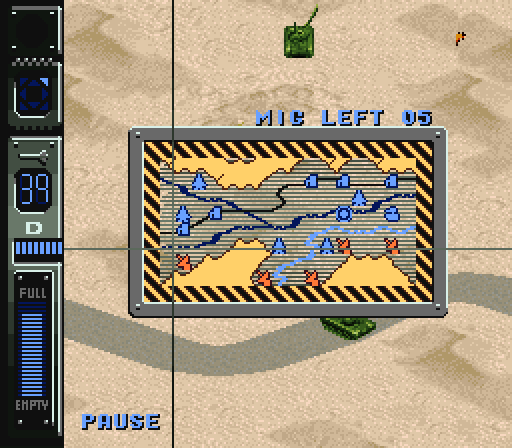 The <em>Air Strike Patrol</em> pause screen uses raster effects that weren't intentionally used in any other SNES game.