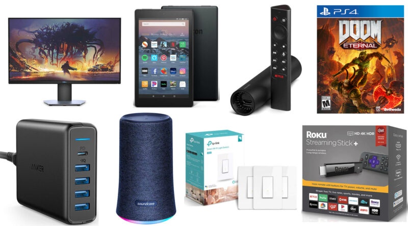 A collage of electronic devices for sale.