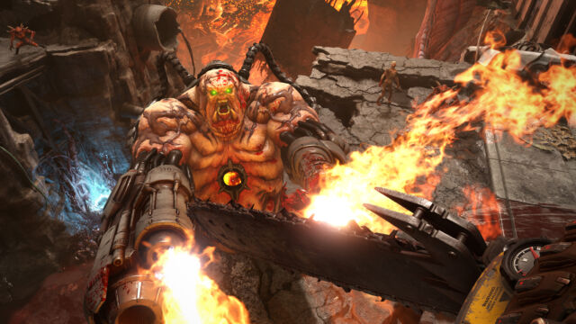 <em>Doom Eternal</em> is a thrilling, fast-paced twitch shooter.