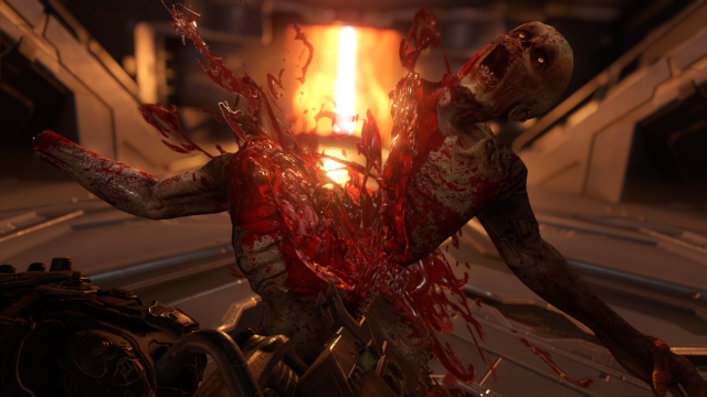 Playing <em>Doom Eternal</em>, you'll see gory eviscerations like this so often they'll cease to have any real impact.