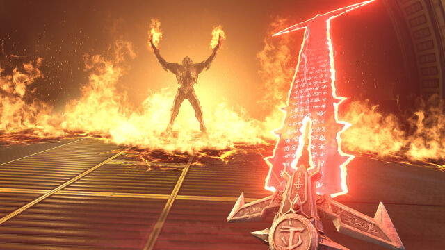 Yes, that's a sword, and not a gun. Yes, <em>Doom Eternal </em>is still a <em>Doom</em> game.