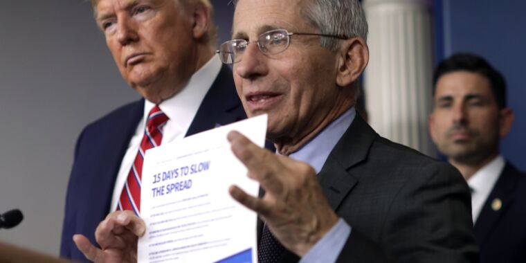 Dr. Fauci explains why he doesn't correct Trump during press conferences