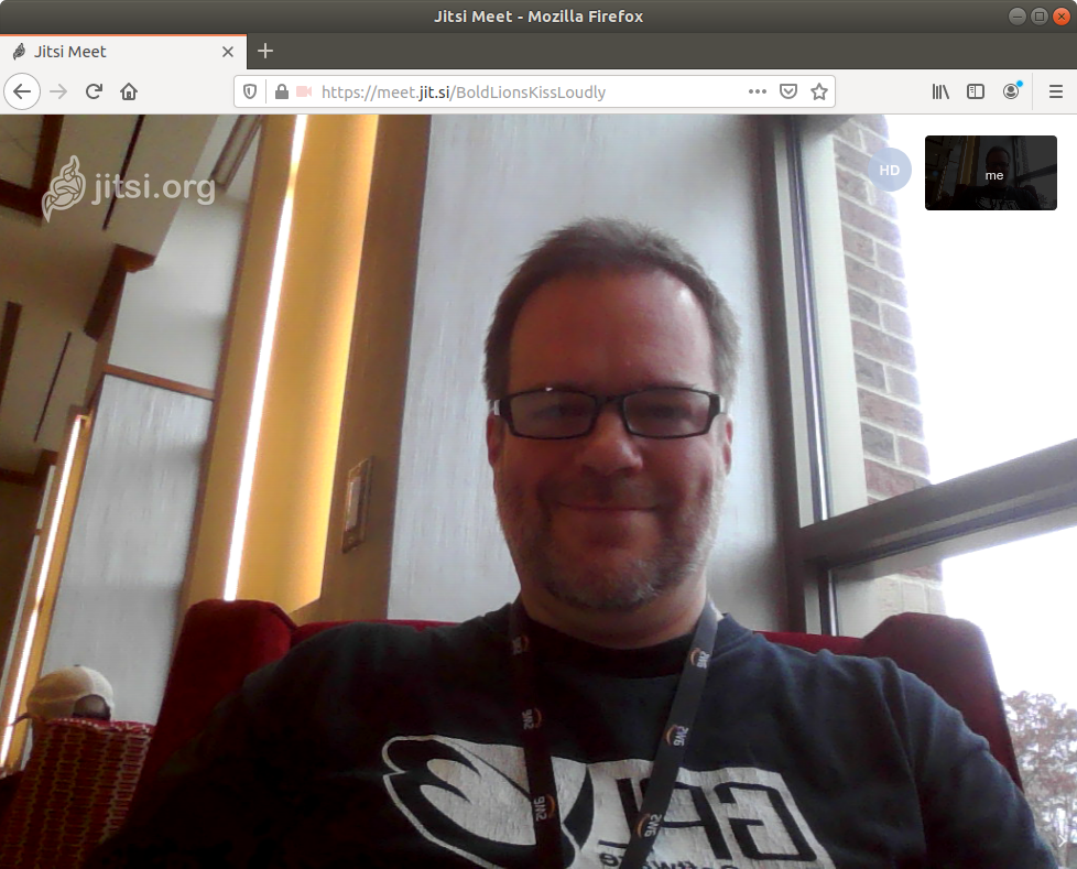 Jitsi Meet is FOSS, easy to use, and instantly available.