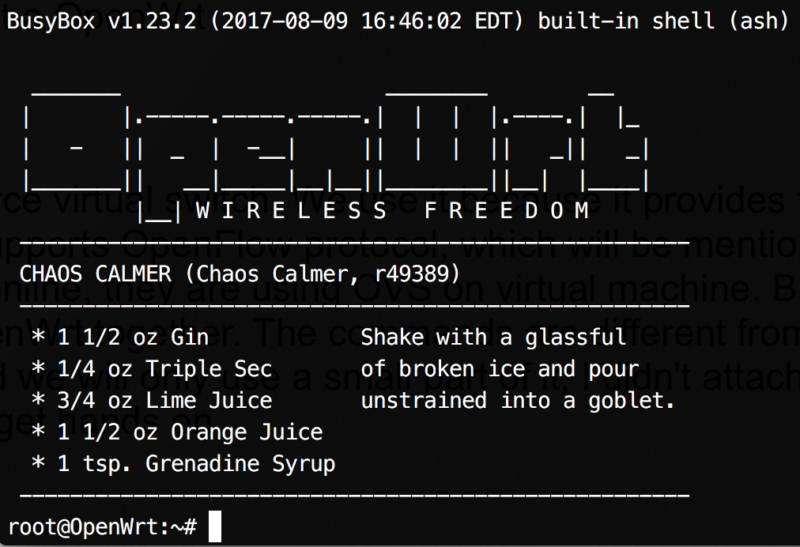 Screenshot of OpenWrt.