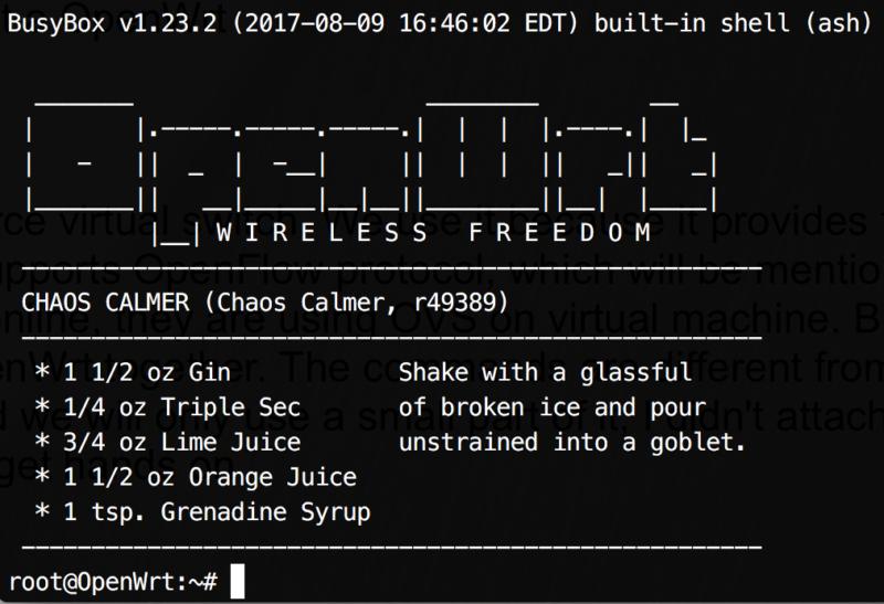 Screenshot of OpenWrt.