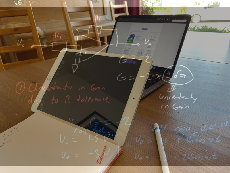 A virtual classroom setup.