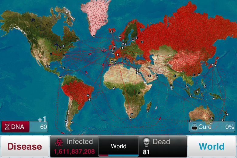 In <em>Plague Inc.</em> this screen would be considered a good start. But in an upcoming game mode, it would be considered a disaster in the making.