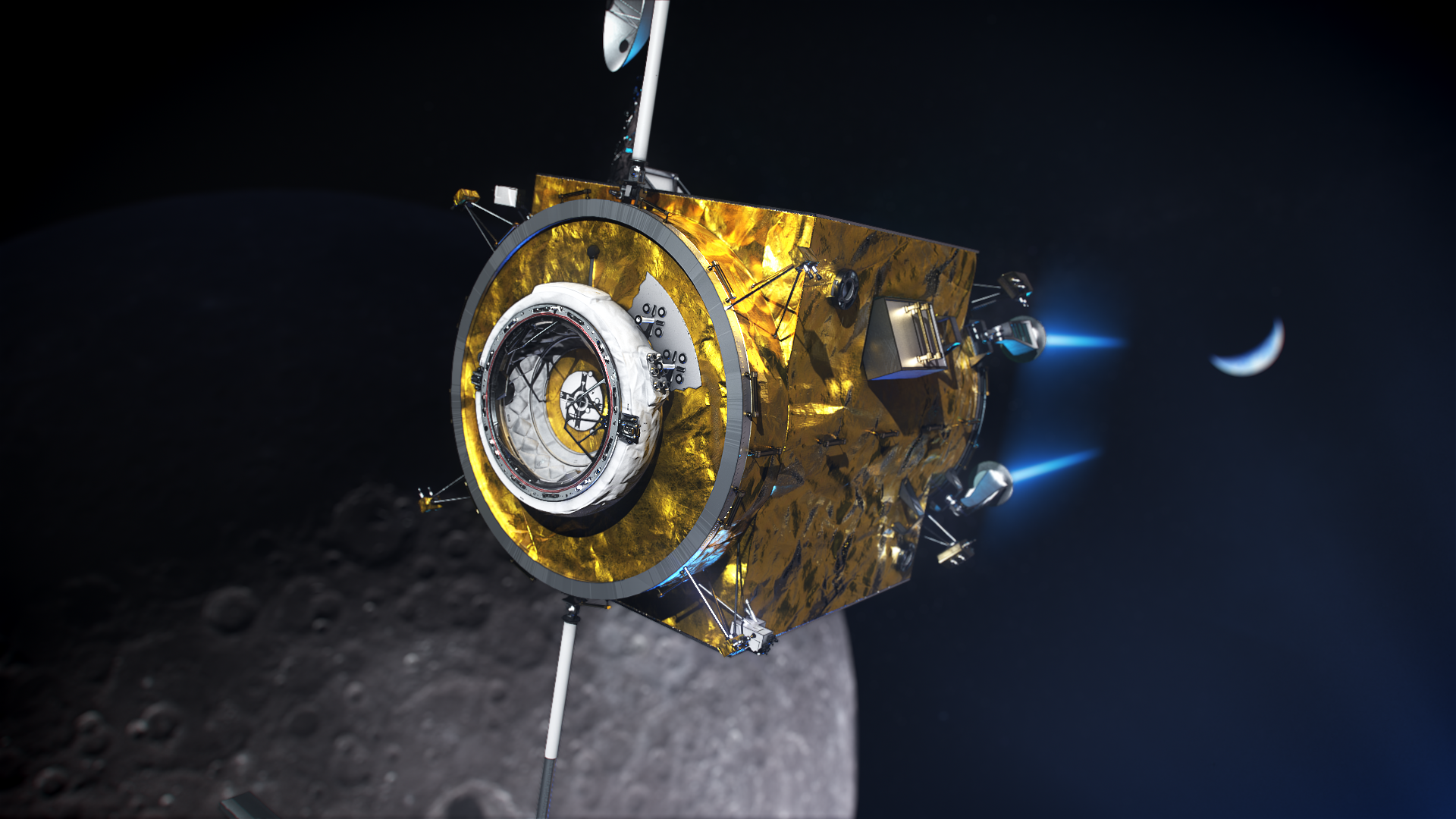 The Power and Propulsion Element of NASA's Gateway is a high-power, 50-kilowatt solar electric propulsion spacecraft.