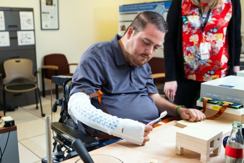 Ian Burkhard suffered a severe spinal cord injury in 2010. Battelle's NeuroLife project is restoring motor function to his right arm with a brain-computer-interface system.