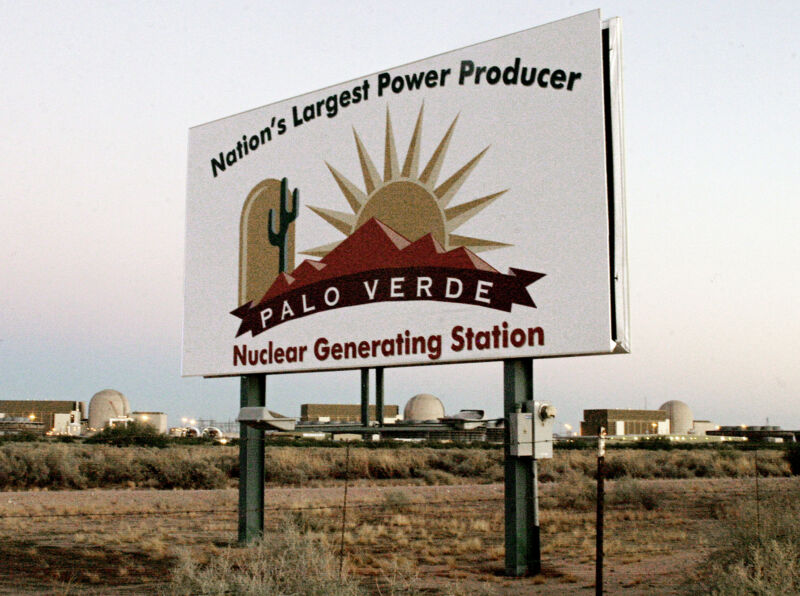 The Palo Verde Nuclear generating plant, the nation's largest nuclear power plant.