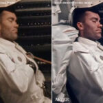 This gallery highlights images made from stacked 16mm film. Here, Fred Haise takes a nap, in a before and after image.
