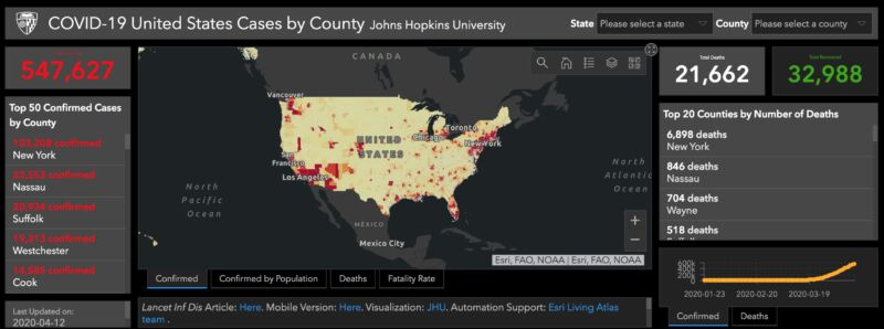 New COVID-19 dashboard just for the US offers rich, county-level data