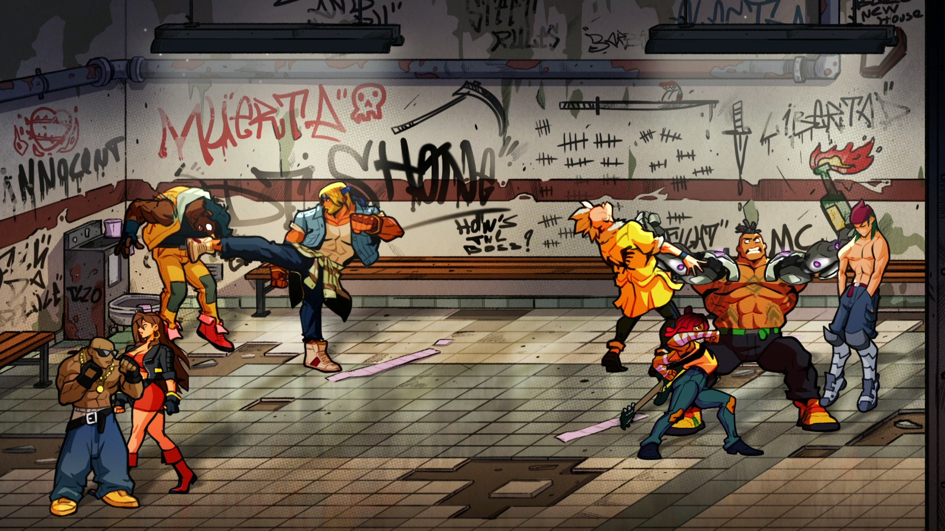 A perfectly acceptable location to start brawling anew. Welcome back to <em>Streets of Rage</em>.