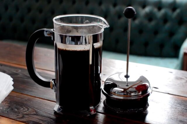 Cold-brew coffee involves mixing coffee grounds with room-temperature water and letting the mixture steep for anywhere from several hours to two days.
