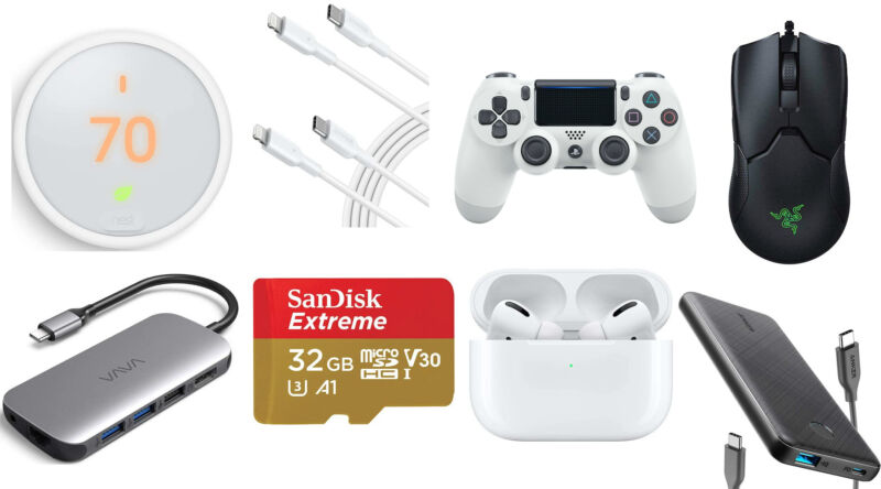 A collage of software and devices for sale.