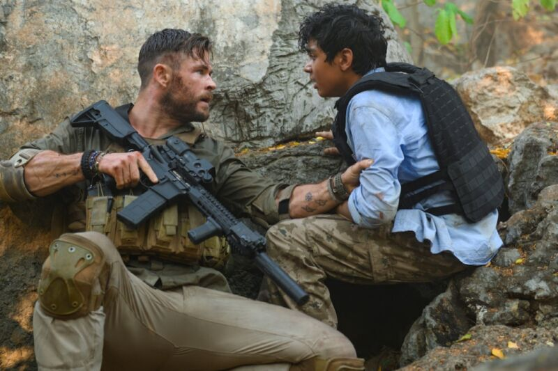 Chris Hemsworth plays a ruthless mercenary whose latest mission calls for rescuing a drug lord's kidnapped son from Bangladesh.