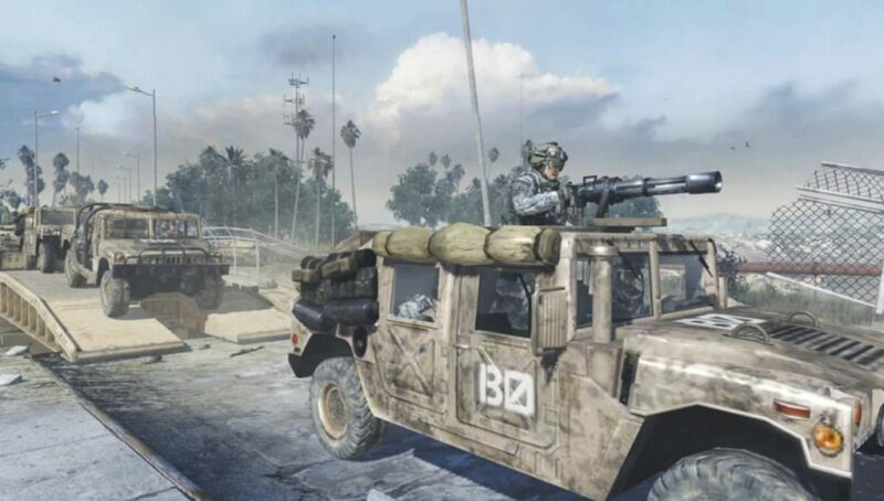 Depicting a Humvee like this in <em>Call of Duty</em> is allowed by the First Amendment, a federal judge has ruled.