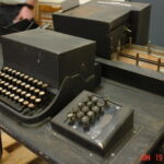 The 10-key pad was arranged in an angle and placed its digits in telephone order, not modern 10-key order. But its placement next to a QWERTY keyboard was first of its kind.
