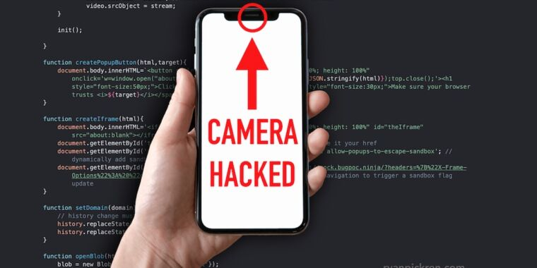 Bugs that let sites hijack Mac and iPhone cameras fetch $75k bounty