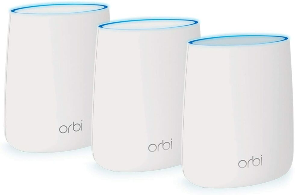 There are many Orbi three-piece kits—we specifically recommend the RBK53, not the cheaper RBK43, RBK33, or RBK23.