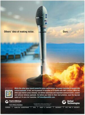 Advertisement from 2011 that targeted SpaceX.