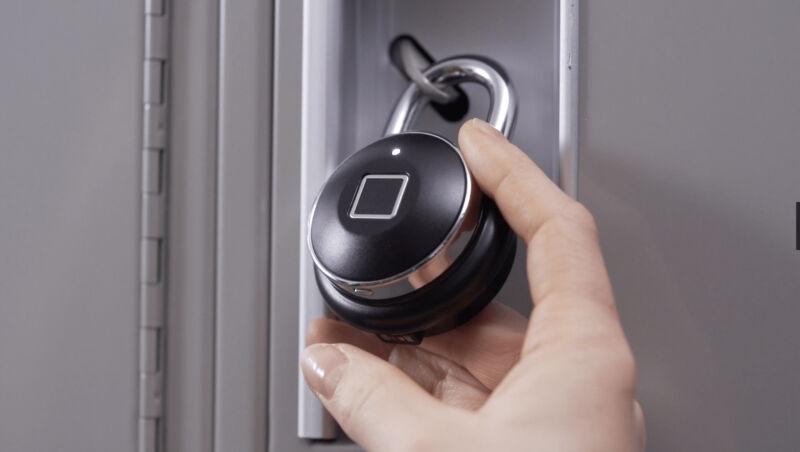 Promotional image of electronic padlock.
