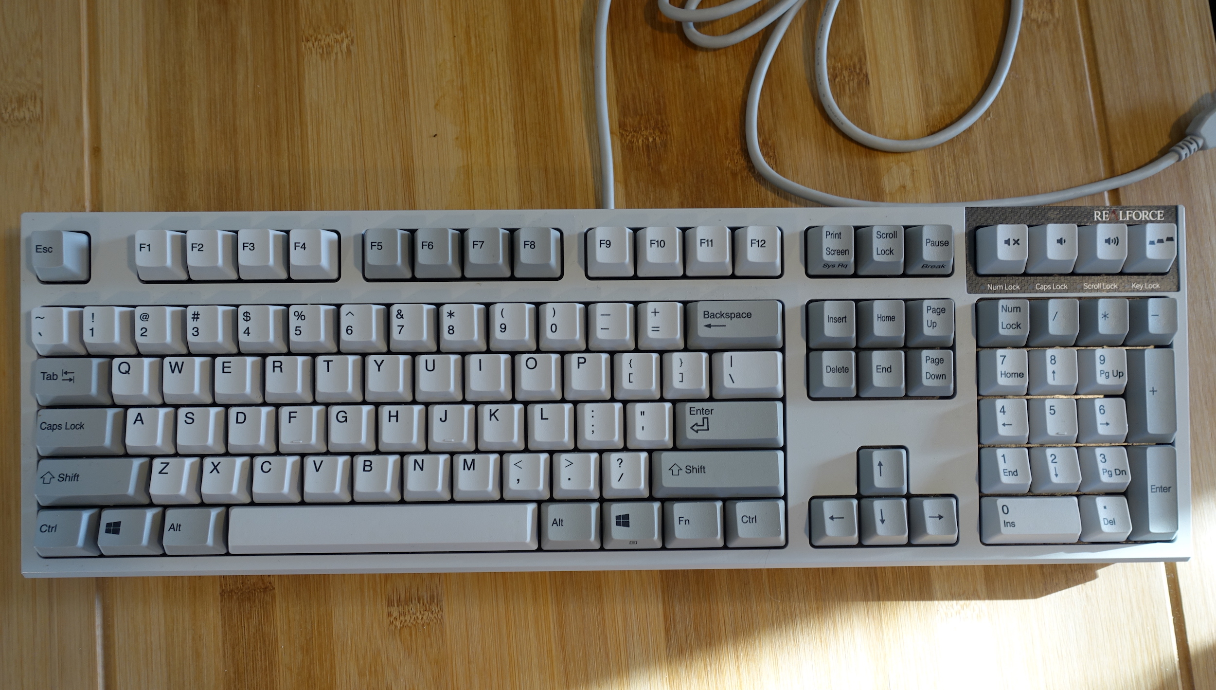 Jeff Dunn's Topre Realforce. Though it has a 10-key pad, he doesn't use it exclusively.