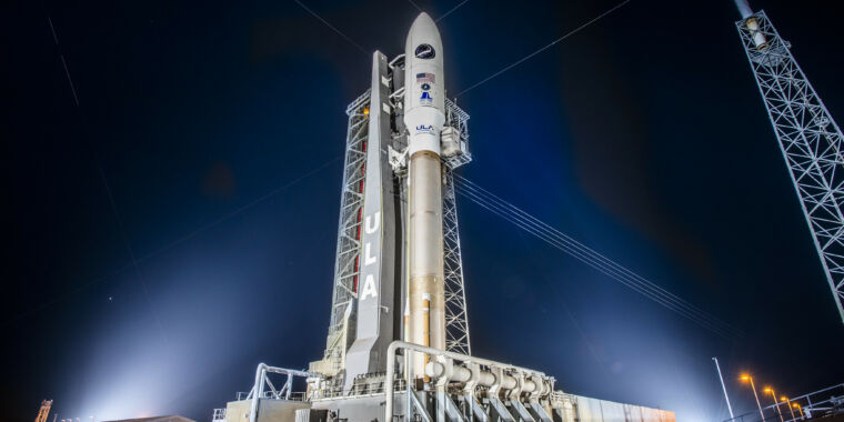 An Atlas V rocket may launch a military space plane Saturday morning