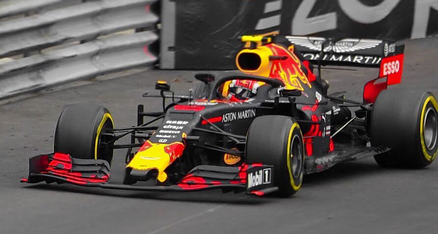 Red Bull's Pierre Gasly in his RB15. Gasly would finish the race in fifth place but would be demoted from the team later in the season.