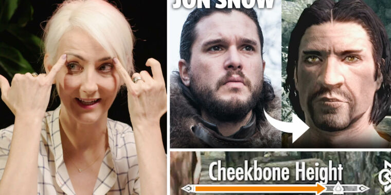 Generating Game of Thrones characters in Skyrim's character creator