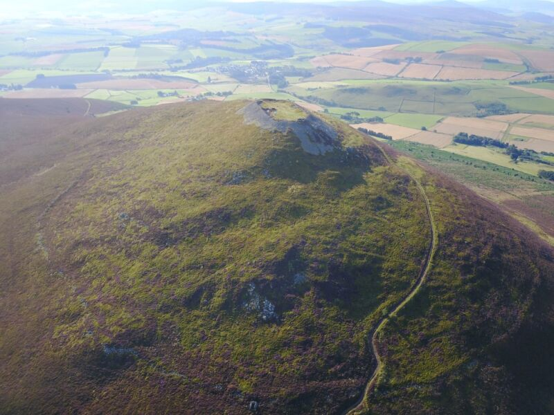 A huge Scottish hillfort was the largest settlement in medieval Britain