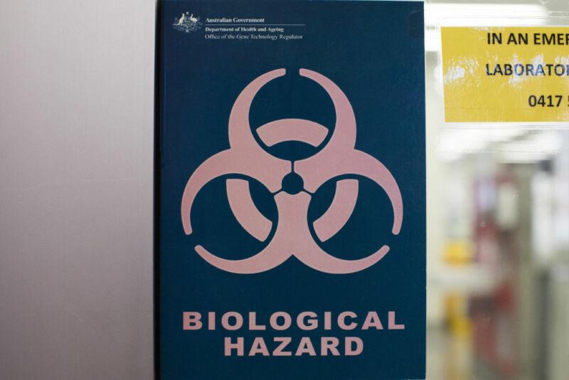 Image of a biohazard warning sign.
