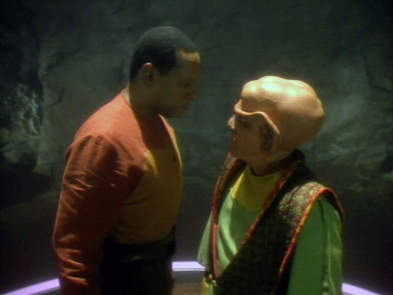 "Chances are, you and your loved ones might get into anxious quarantine moments like this one, shared between Sisko (Avery Brooks) and Quark (Armin Shimerman) in the <em>DS9</em> season two episode ""The Jem'Hadar."""