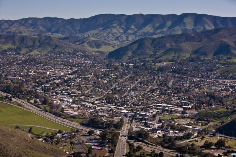 The city of San Luis Obispo in 2013.