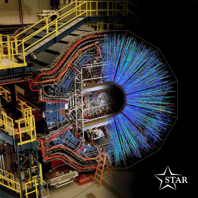 The STAR detector at the Relativistic Heavy Ion Collider makes images using pions.